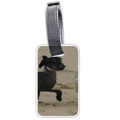 2 Chinese Crested Playing Luggage Tags (one Side)
