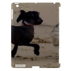 2 Chinese Crested Playing Apple Ipad 3/4 Hardshell Case (compatible With Smart Cover)