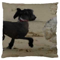 2 Chinese Crested Playing Large Cushion Case (one Side)