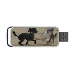 2 Chinese Crested Playing Portable Usb Flash (two Sides)
