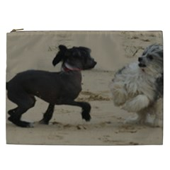 2 Chinese Crested Playing Cosmetic Bag (xxl)