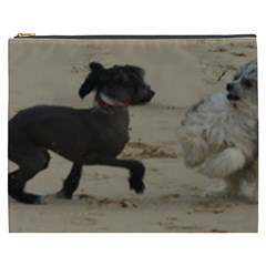 2 Chinese Crested Playing Cosmetic Bag (xxxl)