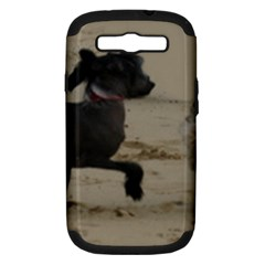 2 Chinese Crested Playing Samsung Galaxy S Iii Hardshell Case (pc+silicone)
