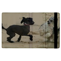 2 Chinese Crested Playing Apple Ipad 2 Flip Case