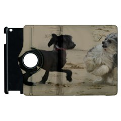 2 Chinese Crested Playing Apple Ipad 3/4 Flip 360 Case