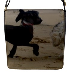 2 Chinese Crested Playing Flap Messenger Bag (s)
