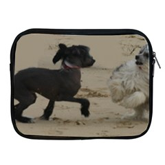 2 Chinese Crested Playing Apple Ipad 2/3/4 Zipper Cases