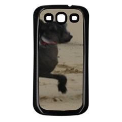 2 Chinese Crested Playing Samsung Galaxy S3 Back Case (black)