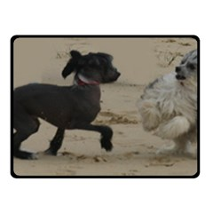 2 Chinese Crested Playing Double Sided Fleece Blanket (small)