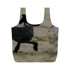 2 Chinese Crested Playing Full Print Recycle Bags (m)