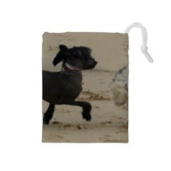 2 Chinese Crested Playing Drawstring Pouches (medium)