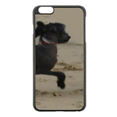2 Chinese Crested Playing Apple Iphone 6 Plus/6s Plus Black Enamel Case