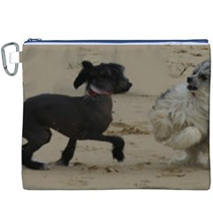 2 Chinese Crested Playing Canvas Cosmetic Bag (xxxl)