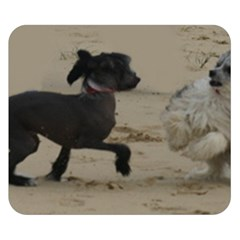 2 Chinese Crested Playing Double Sided Flano Blanket (small)