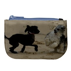 2 Chinese Crested Playing Large Coin Purse