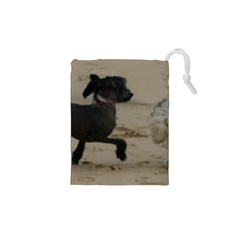 2 Chinese Crested Playing Drawstring Pouches (xs)