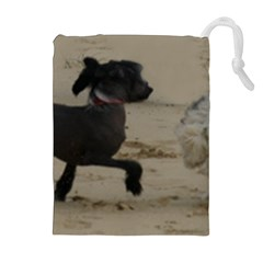 2 Chinese Crested Playing Drawstring Pouches (extra Large)