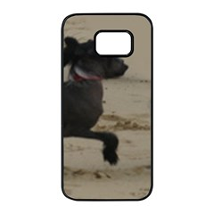 2 Chinese Crested Playing Samsung Galaxy S7 Edge Black Seamless Case