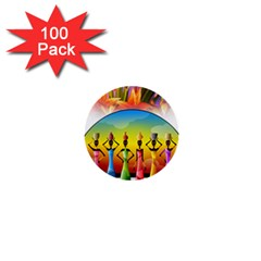 African American Women 1  Mini Buttons (100 Pack)