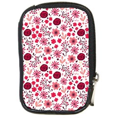Red Floral Seamless Pattern Compact Camera Cases