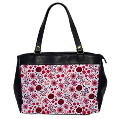 Red Floral Seamless Pattern Office Handbags