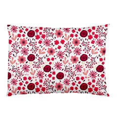 Red Floral Seamless Pattern Pillow Case (two Sides)