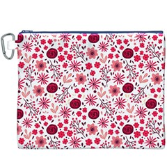 Red Floral Seamless Pattern Canvas Cosmetic Bag (xxxl)