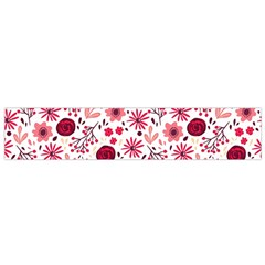 Red Floral Seamless Pattern Flano Scarf (small)