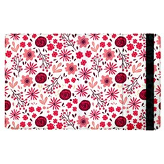 Red Floral Seamless Pattern Apple Ipad Pro 9 7   Flip Case