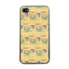 Hand Drawn Ethinc Pattern Background Apple Iphone 4 Case (clear)