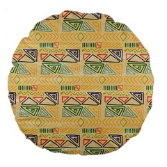 Hand Drawn Ethinc Pattern Background Large 18  Premium Round Cushions