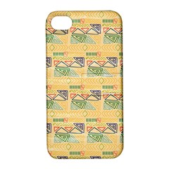 Hand Drawn Ethinc Pattern Background Apple Iphone 4/4s Hardshell Case With Stand