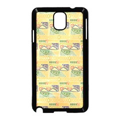 Hand Drawn Ethinc Pattern Background Samsung Galaxy Note 3 Neo Hardshell Case (black)