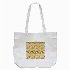 Hand Drawn Ethinc Pattern Background Tote Bag (white)