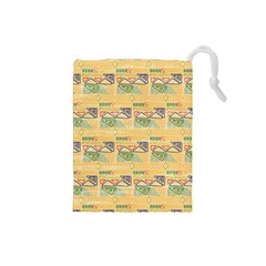 Hand Drawn Ethinc Pattern Background Drawstring Pouches (small)