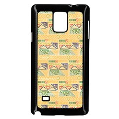 Hand Drawn Ethinc Pattern Background Samsung Galaxy Note 4 Case (black)