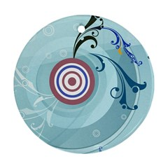Target Patterns Ice Blue 11355 3840x2400 Round Ornament