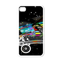Patterns Circles Lines Stripes Colorful Rainbow 20251 3840x2400 Apple Iphone 4 Case (white)