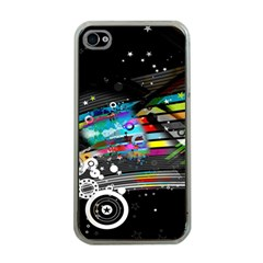 Patterns Circles Lines Stripes Colorful Rainbow 20251 3840x2400 Apple Iphone 4 Case (clear)