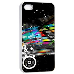 Patterns Circles Lines Stripes Colorful Rainbow 20251 3840x2400 Apple Iphone 4/4s Seamless Case (white)