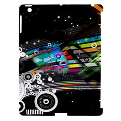 Patterns Circles Lines Stripes Colorful Rainbow 20251 3840x2400 Apple Ipad 3/4 Hardshell Case (compatible With Smart Cover)