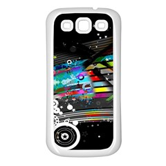Patterns Circles Lines Stripes Colorful Rainbow 20251 3840x2400 Samsung Galaxy S3 Back Case (white)