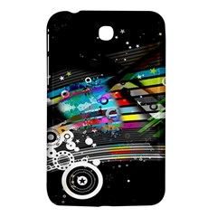 Patterns Circles Lines Stripes Colorful Rainbow 20251 3840x2400 Samsung Galaxy Tab 3 (7 ) P3200 Hardshell Case