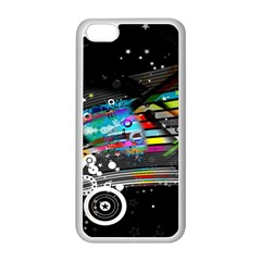 Patterns Circles Lines Stripes Colorful Rainbow 20251 3840x2400 Apple Iphone 5c Seamless Case (white)