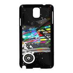 Patterns Circles Lines Stripes Colorful Rainbow 20251 3840x2400 Samsung Galaxy Note 3 Neo Hardshell Case (black)