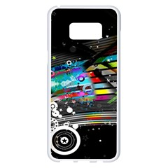 Patterns Circles Lines Stripes Colorful Rainbow 20251 3840x2400 Samsung Galaxy S8 Plus White Seamless Case