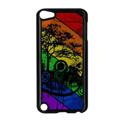 Trees Stripes Lines Rainbow  Apple Ipod Touch 5 Case (black)