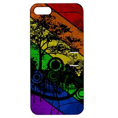 Trees Stripes Lines Rainbow  Apple Iphone 5 Hardshell Case With Stand