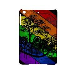 Trees Stripes Lines Rainbow  Ipad Mini 2 Hardshell Cases