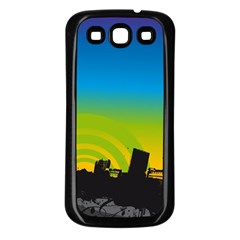 Youth Style Drive Vector 11397 3840x2400 Samsung Galaxy S3 Back Case (black)